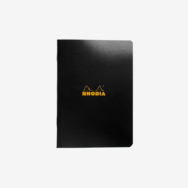 Rhodia Classic Stapled Cahier – A5 Black Lined - Stationary - Hunter Studio - New Zealand Lifestyle Store