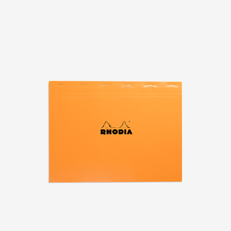 Rhodia Bloc Pad – A3+ Orange Graph - Stationary - Hunter Studio - New Zealand Lifestyle Store