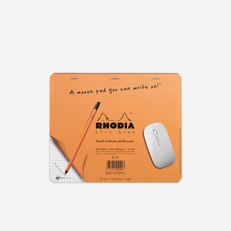 Rhodia Clic Bloc Mouse Pad - Stationary - Hunter Studio - New Zealand Lifestyle Store
