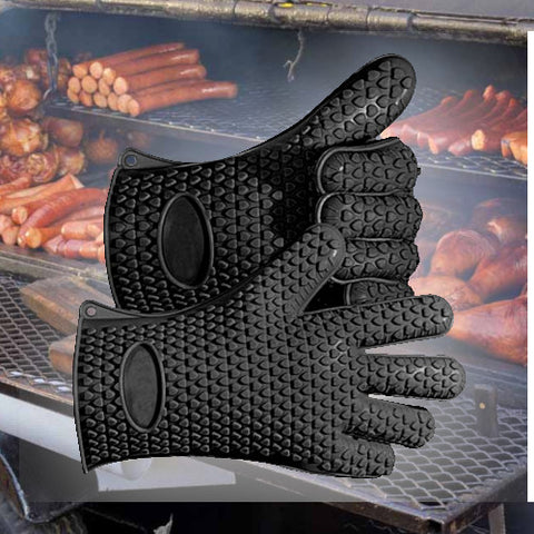 Image of GrillSafe™ - Heat Resistant Grill Gloves