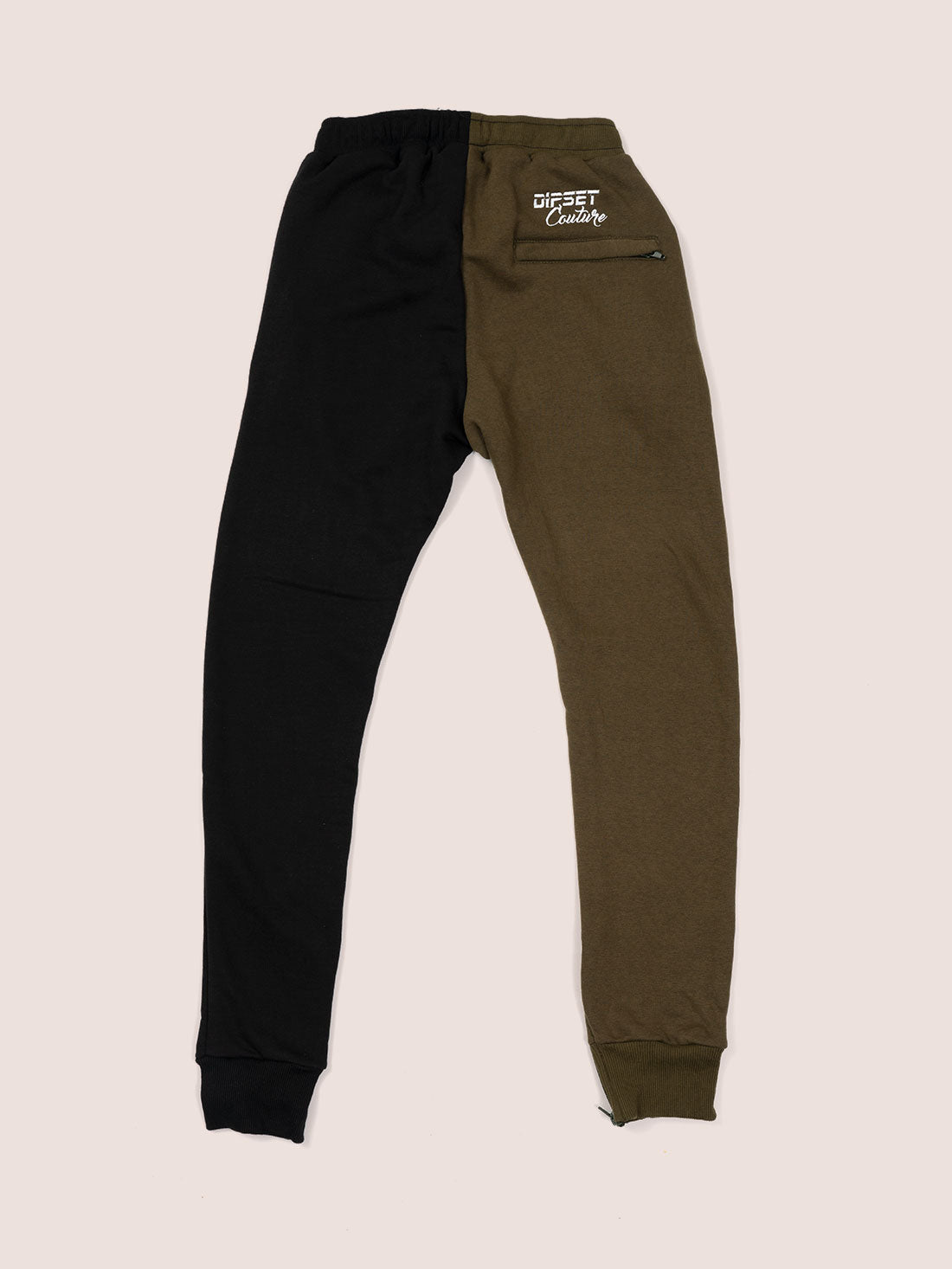 Split Color Sweat Suit BLK/OLIVE
