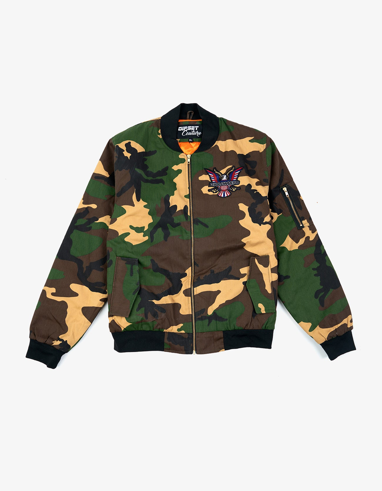DIPSET Couture Army Fatigue Bomber Jacket