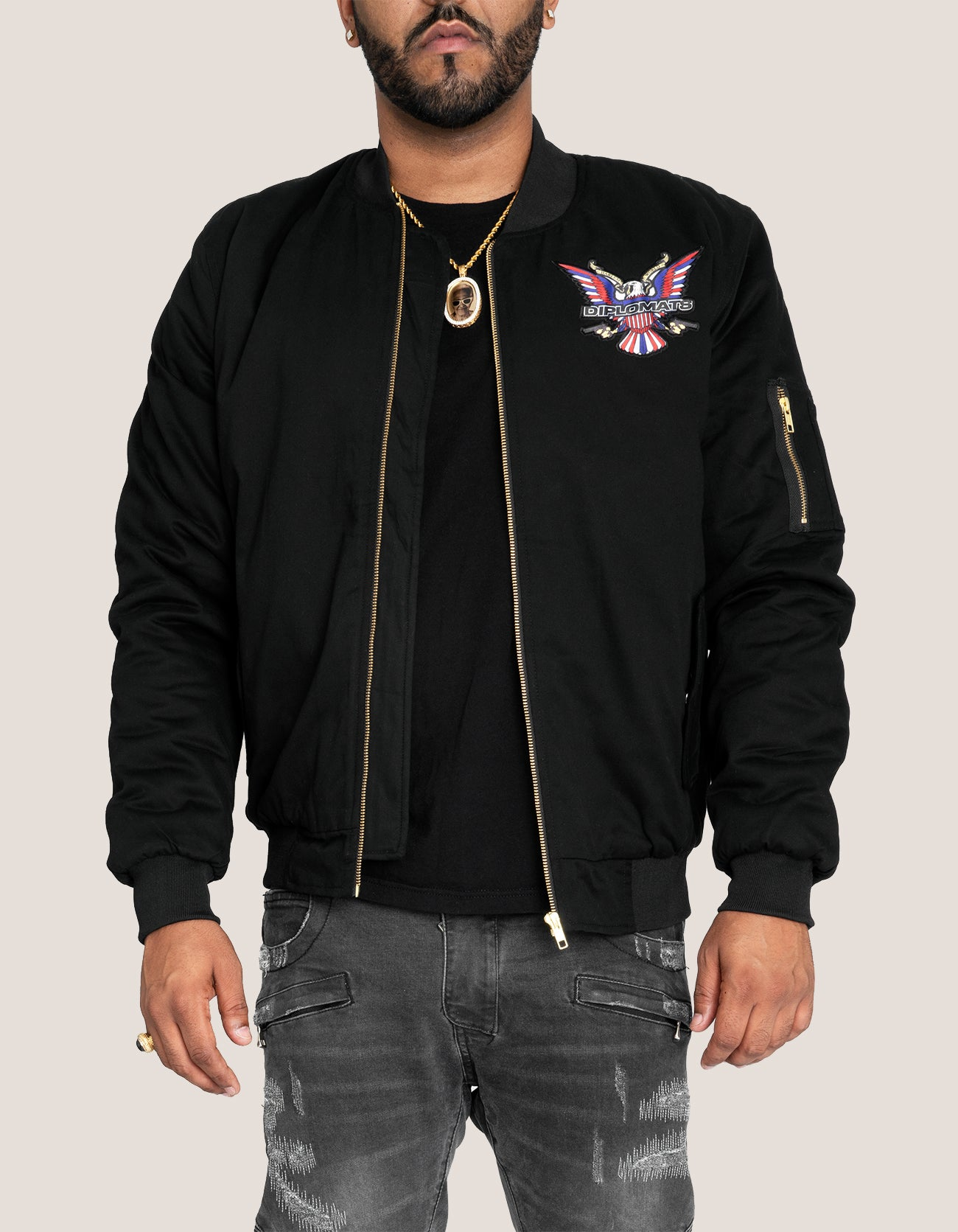 DIPSET Couture Black Bomber Jacket