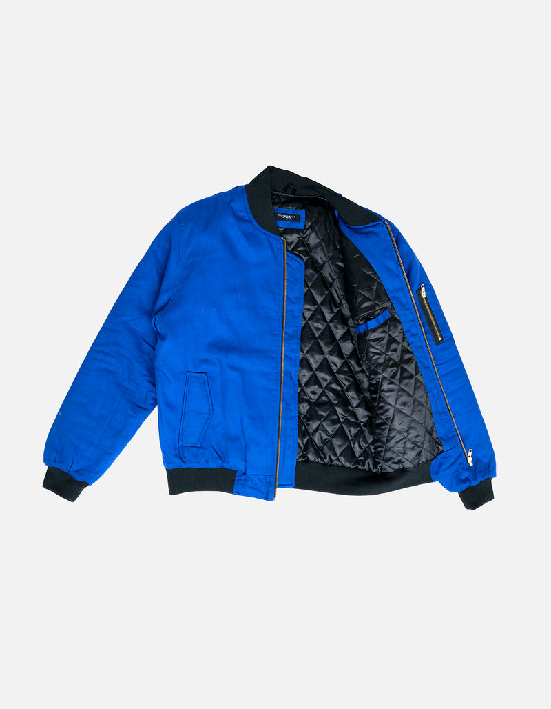 DIPSET Couture Blue Bomber Jacket - DIPSET COUTURE