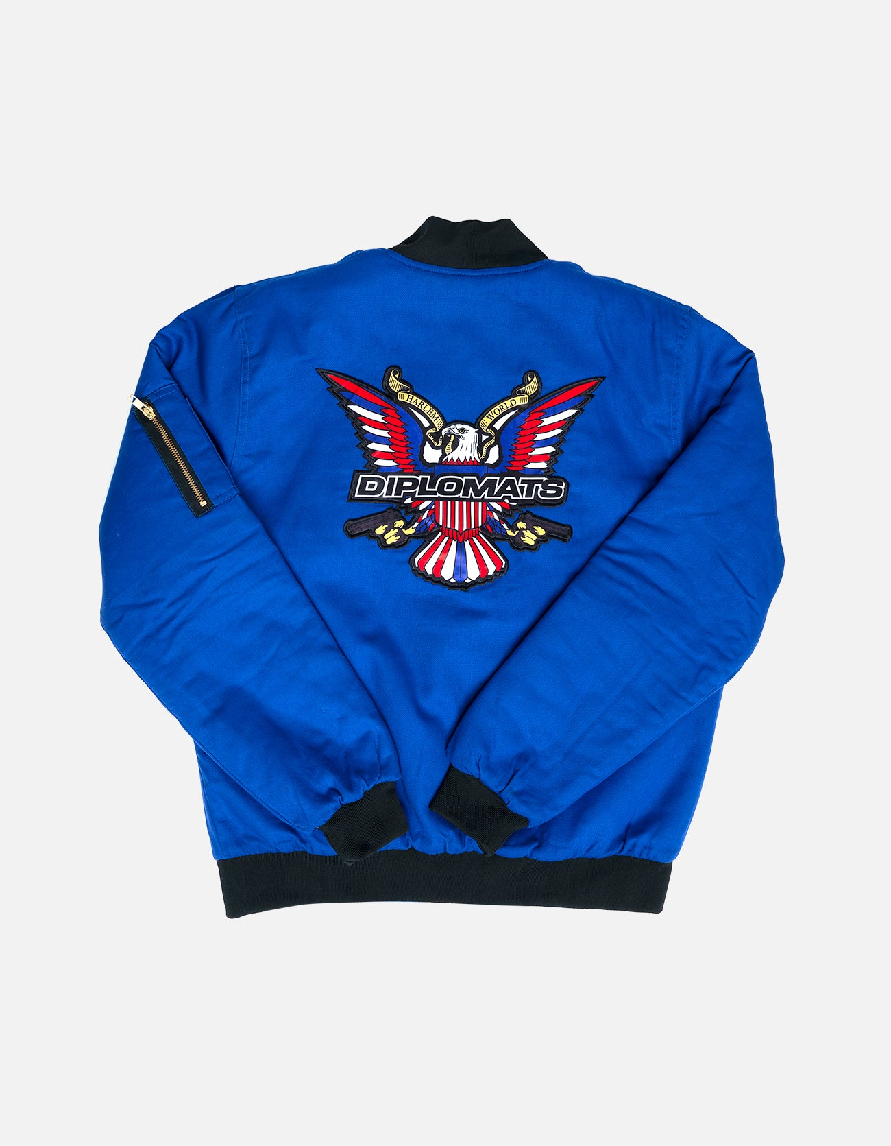 DIPSET Couture Blue Bomber Jacket