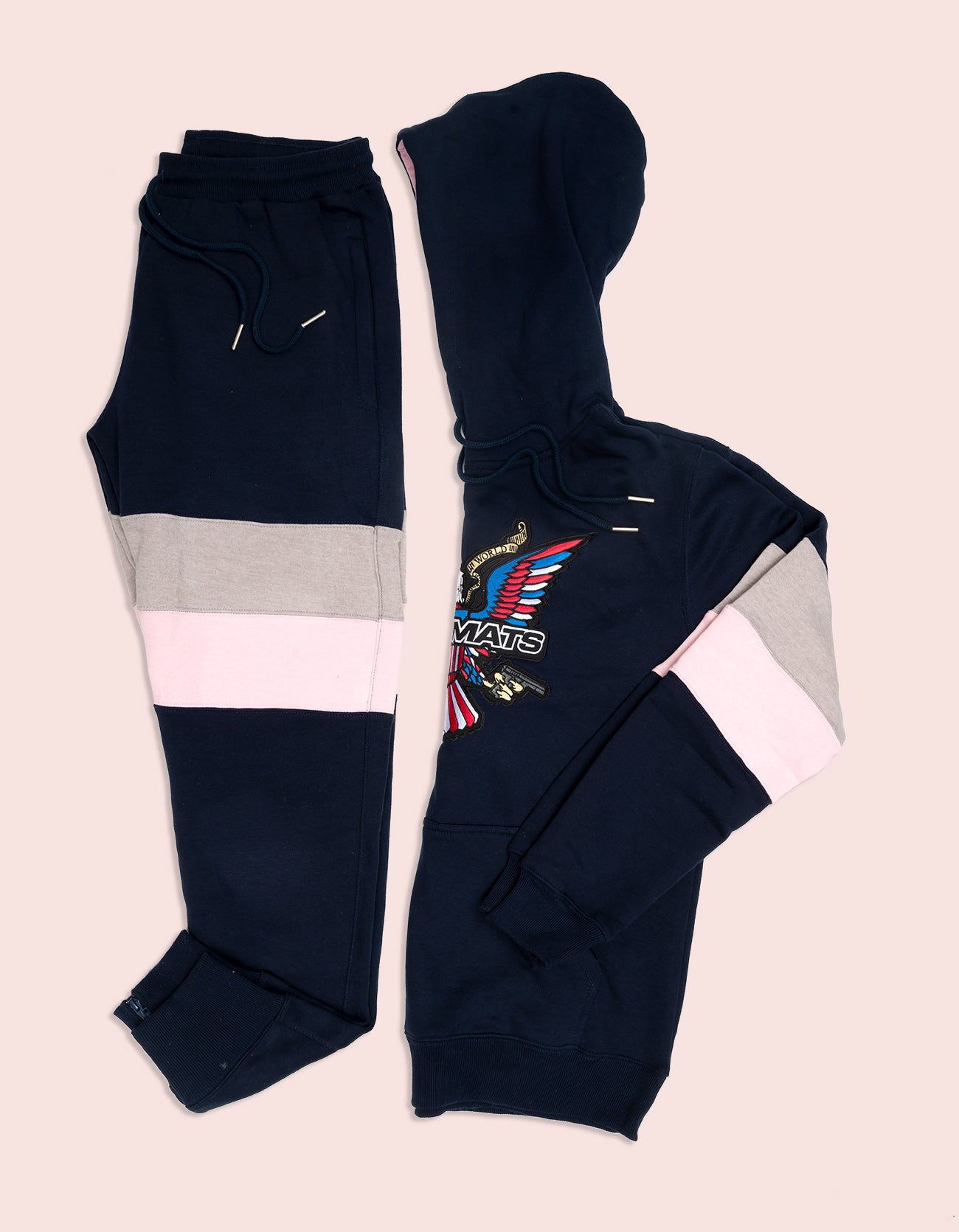 Dipset Couture Navy/Grey/Pink  Sweatsuit