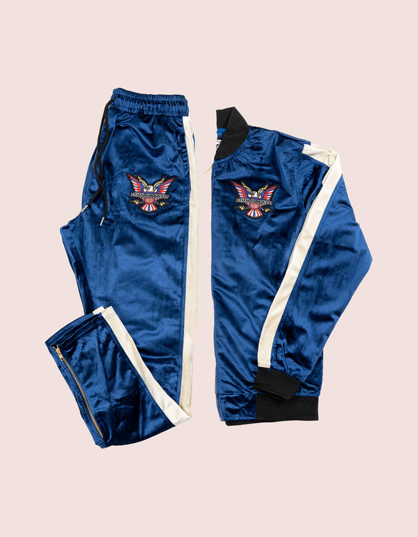 Velour Blue Eagle Tracksuit - DIPSET COUTURE