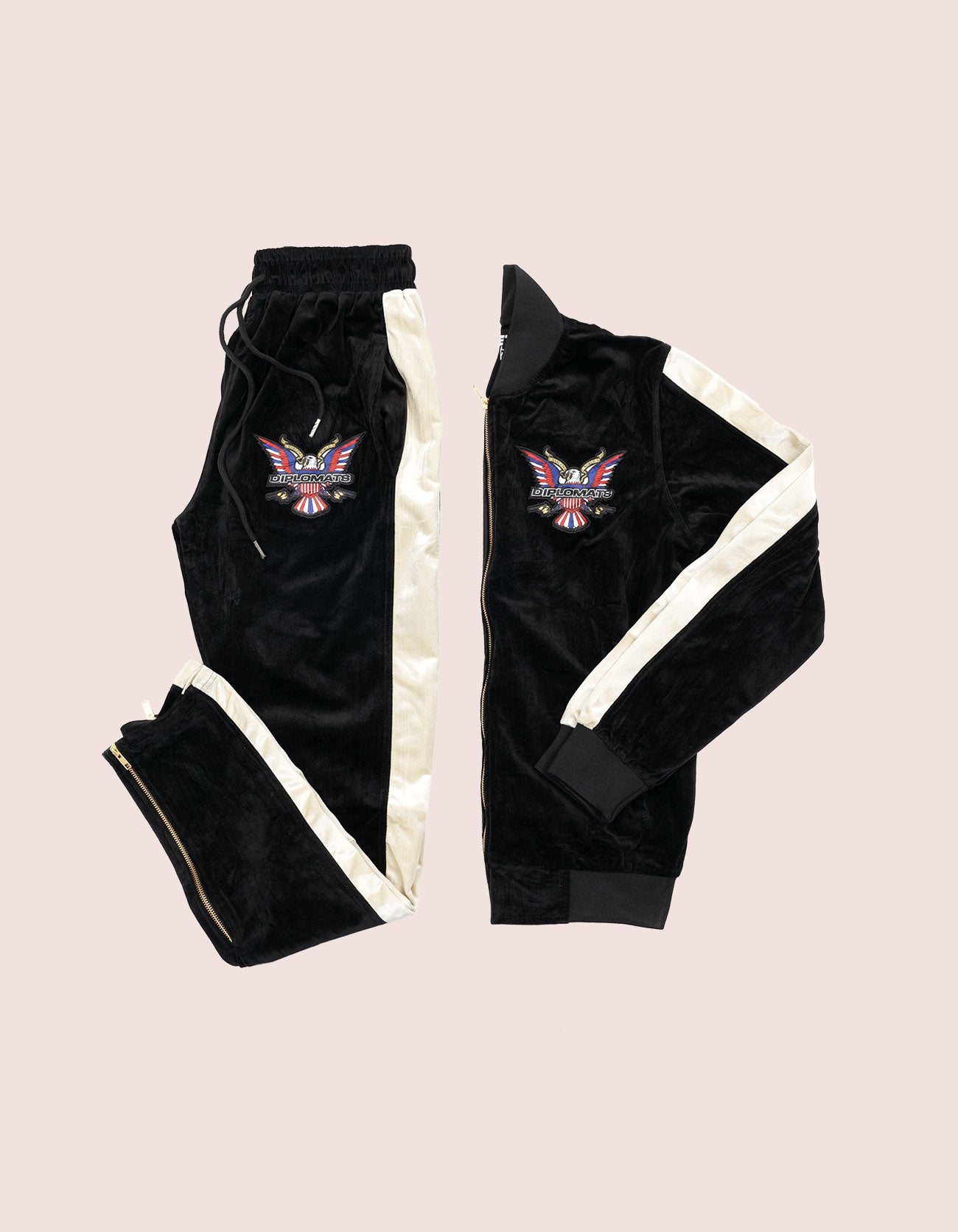 Velour Black Eagle Tracksuit