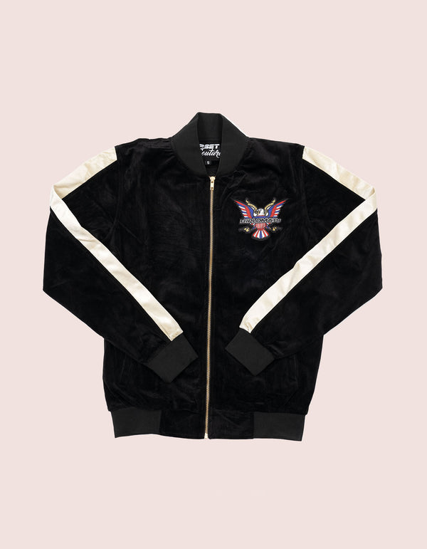 Velour Black Eagle Tracksuit - DIPSET COUTURE