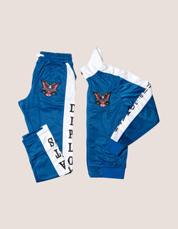 DIPSET Couture Blue/White Classic Track Suit - DIPSET COUTURE