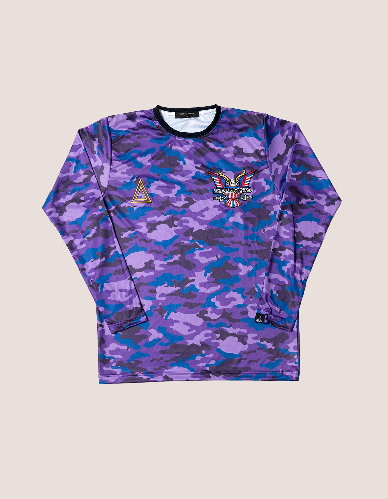 TRI x KiLLA Purple Camo Long Sleeve soccer jersey