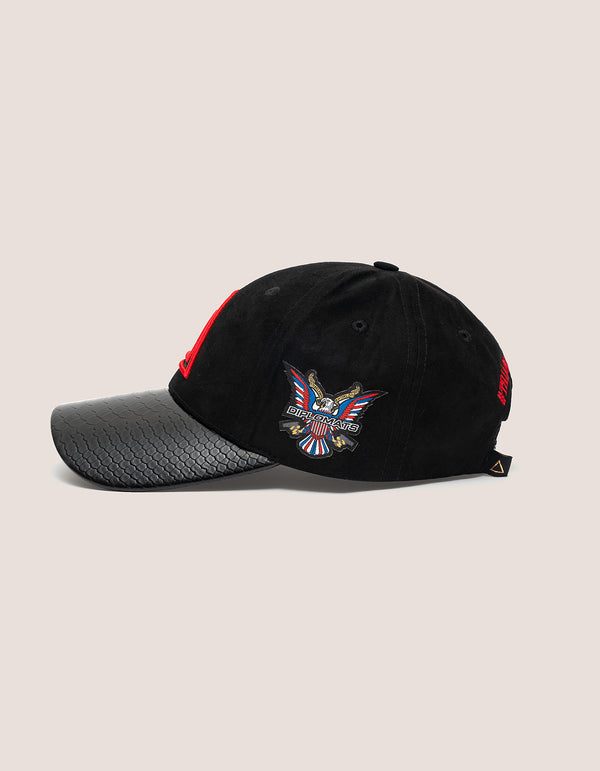 TRI x KILLA  Suede BLACK Baseball hat - DIPSET COUTURE