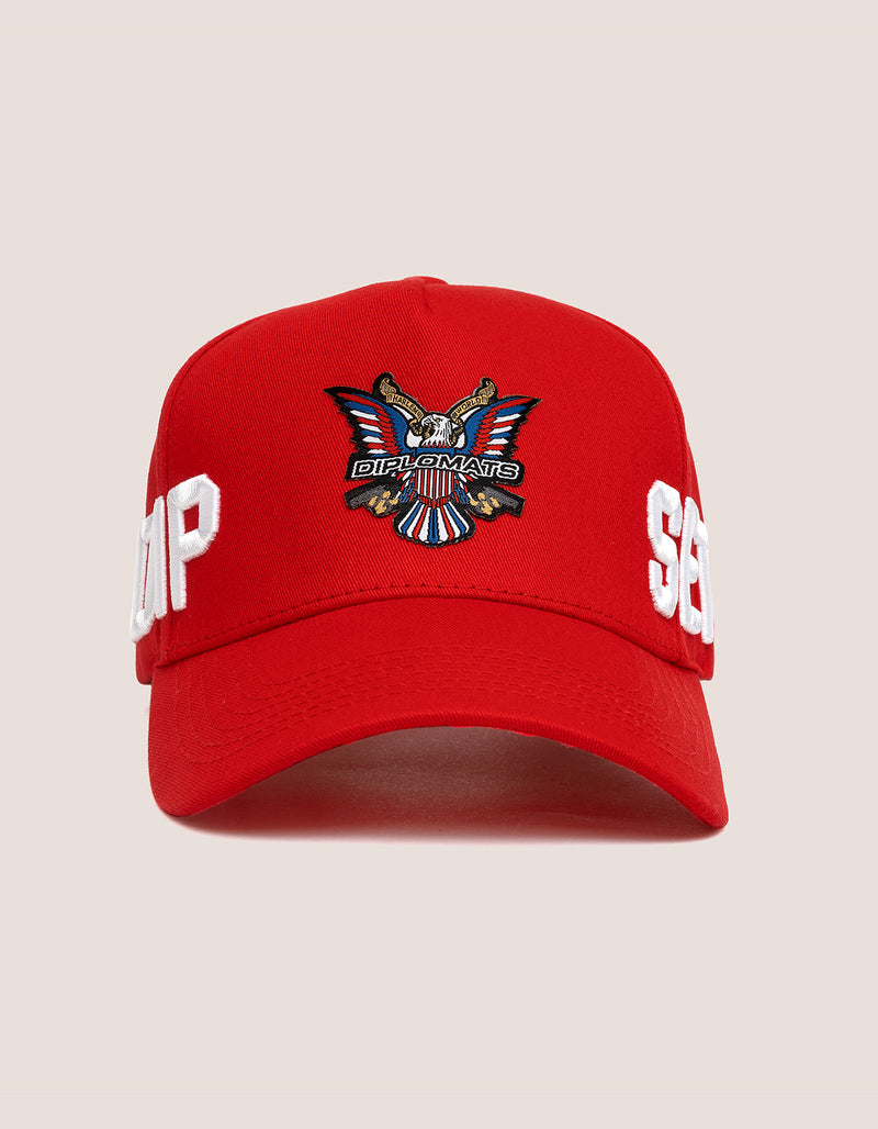 DIPSET COUTURE COTTON ROCKSTAR HAT RED - DIPSET COUTURE