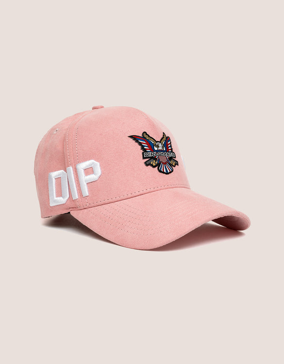 3387f4ab6ed DIPSET COUTURE SUEDE ROCKSTAR HAT PINK