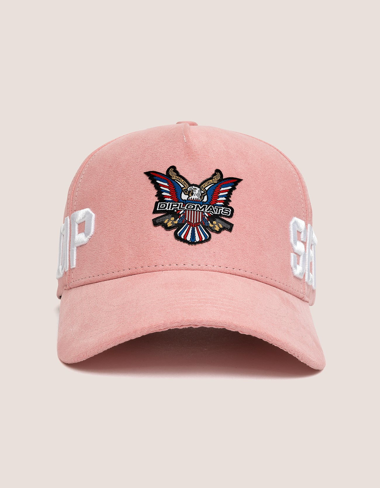 DIPSET COUTURE SUEDE ROCKSTAR HAT PINK