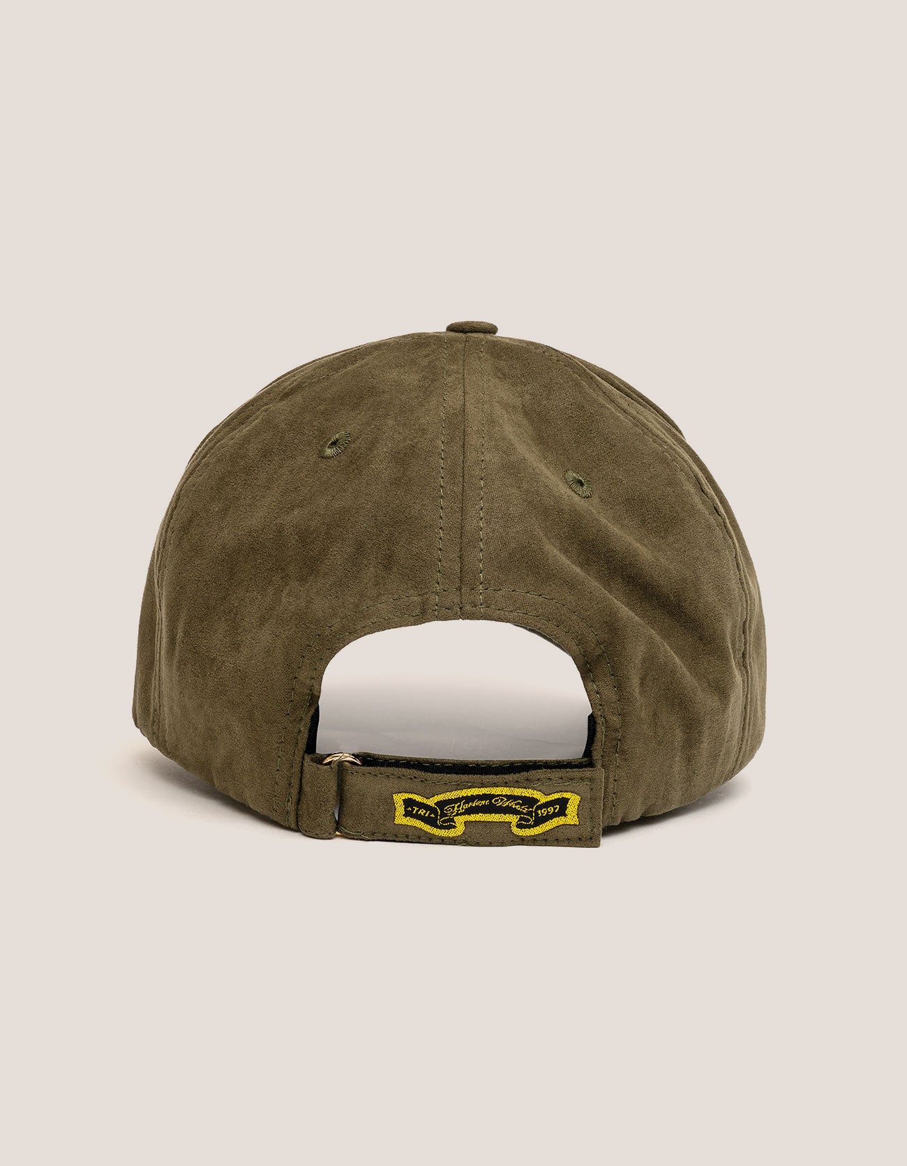 DIPSET COUTURE SUEDE ROCKSTAR HAT OLIVE GREEN
