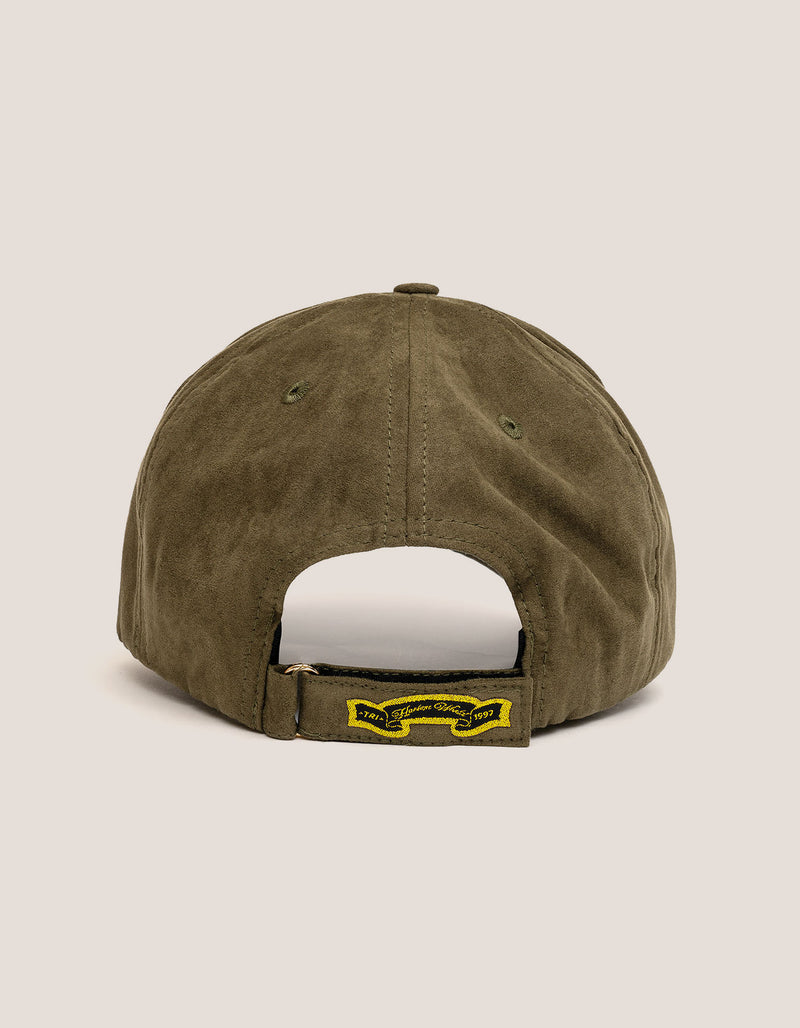 DIPSET COUTURE SUEDE ROCKSTAR HAT OLIVE GREEN - DIPSET COUTURE