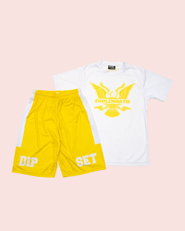T-Shirt Summer Set white & yellow - DIPSET COUTURE