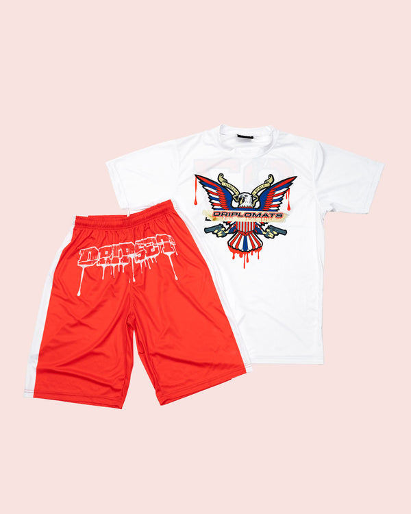 Drip Set Short Set RED - DIPSET COUTURE