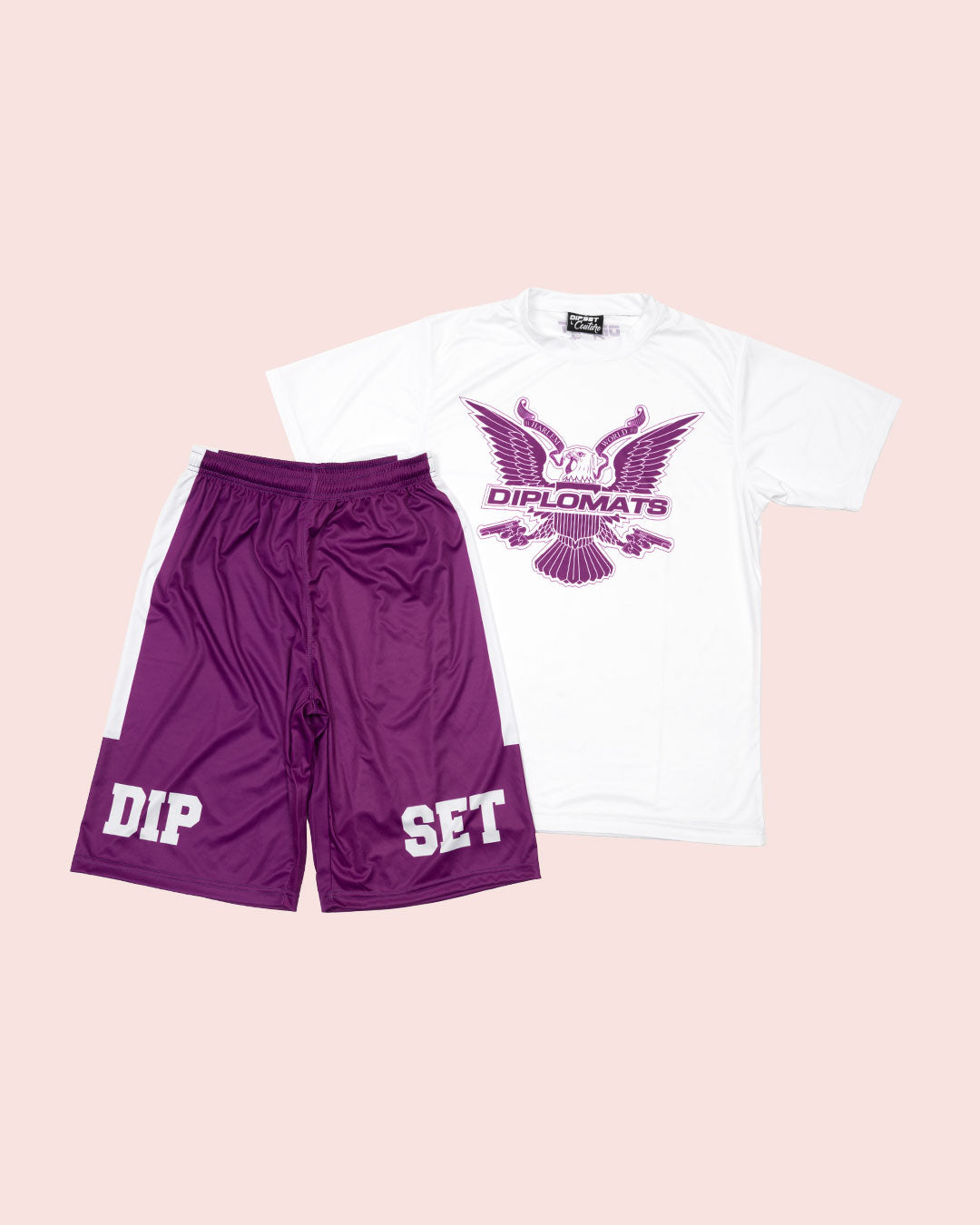 T-Shirt Summer Set white & purple