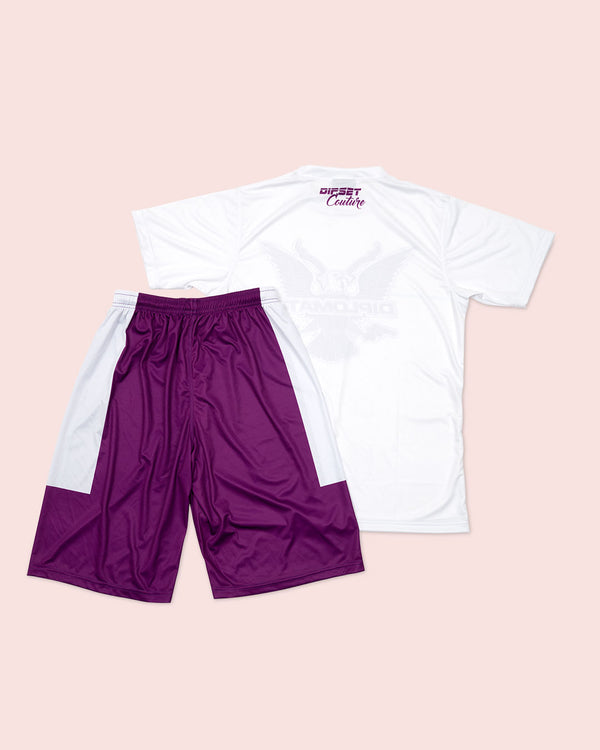 T-Shirt Summer Set white & purple - DIPSET COUTURE