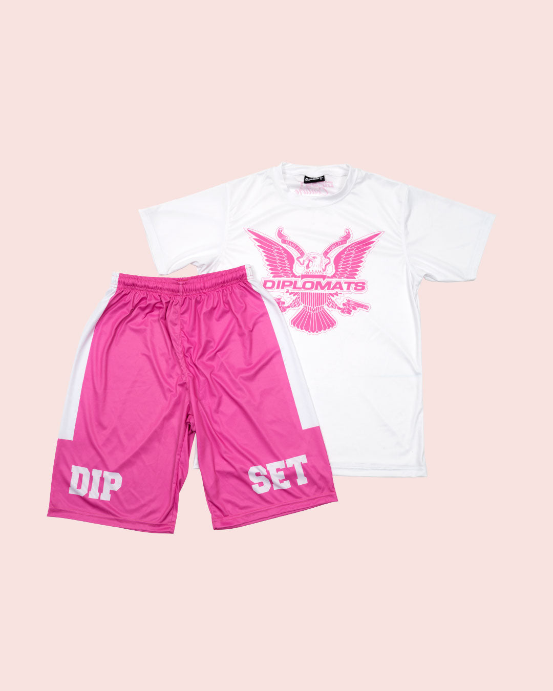 T-Shirt Summer Set white & pink