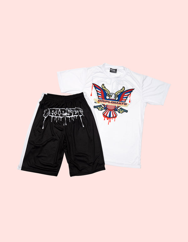 Drip Set Short Set BLACK - DIPSET COUTURE