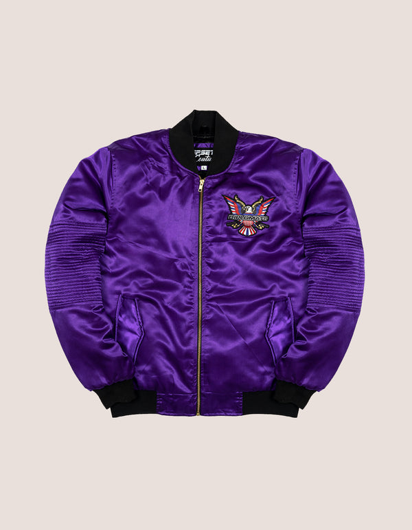 PURPLE HAZE SATIN MEN JACKET - DIPSET COUTURE