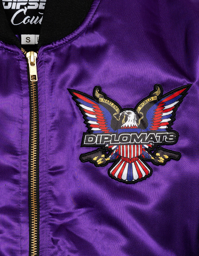 PURPLE HAZE SATIN WOMEN JACKET - DIPSET COUTURE