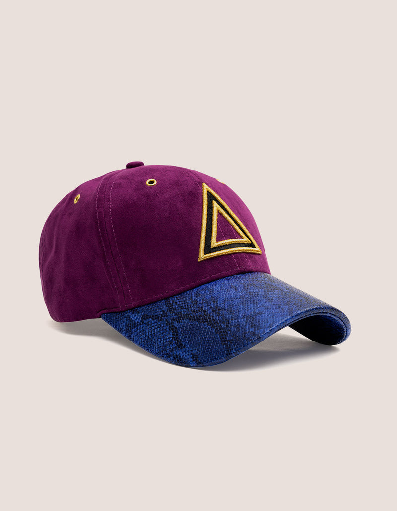 TRI X KILLA Suede PURPLE Baseball Hat - DIPSET COUTURE