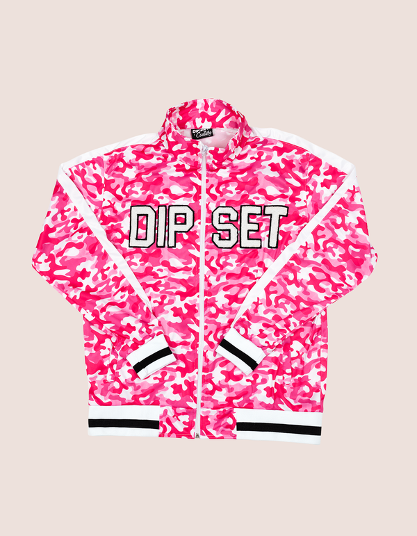 Women's PINK CAMO TRACK JACKET - DIPSET COUTURE