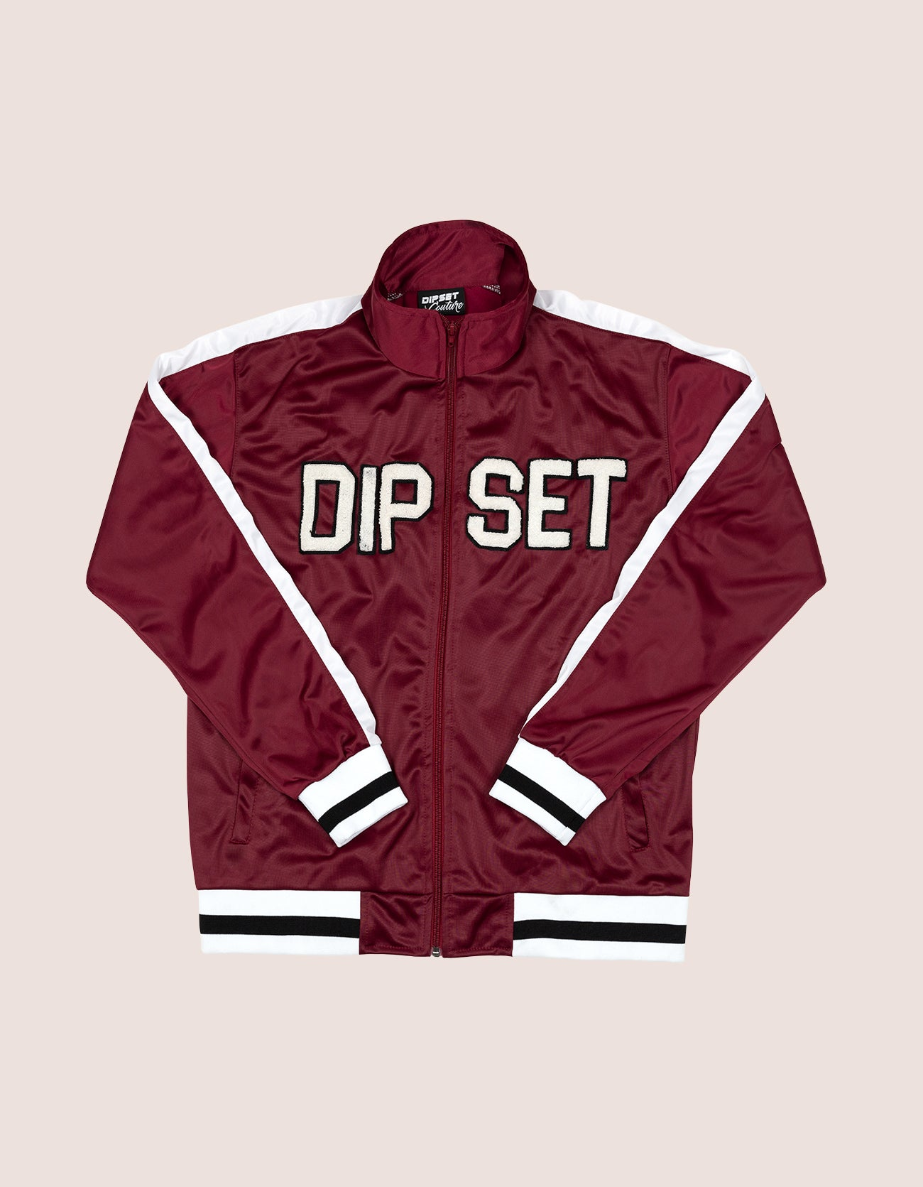 Women's Burgundy DIPSET White 97 Track JAcket