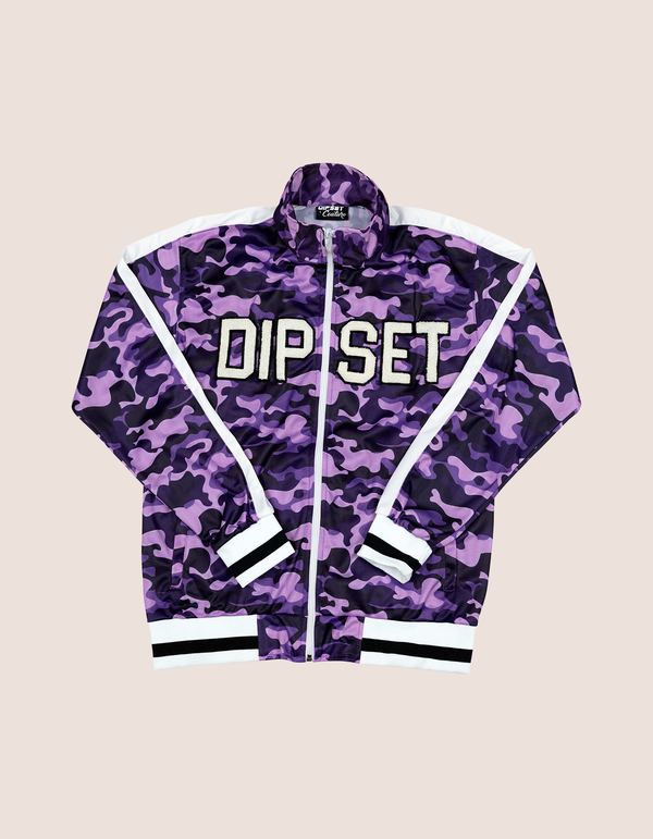 Women's PURPLE CAMO TRACK JACKET - DIPSET COUTURE