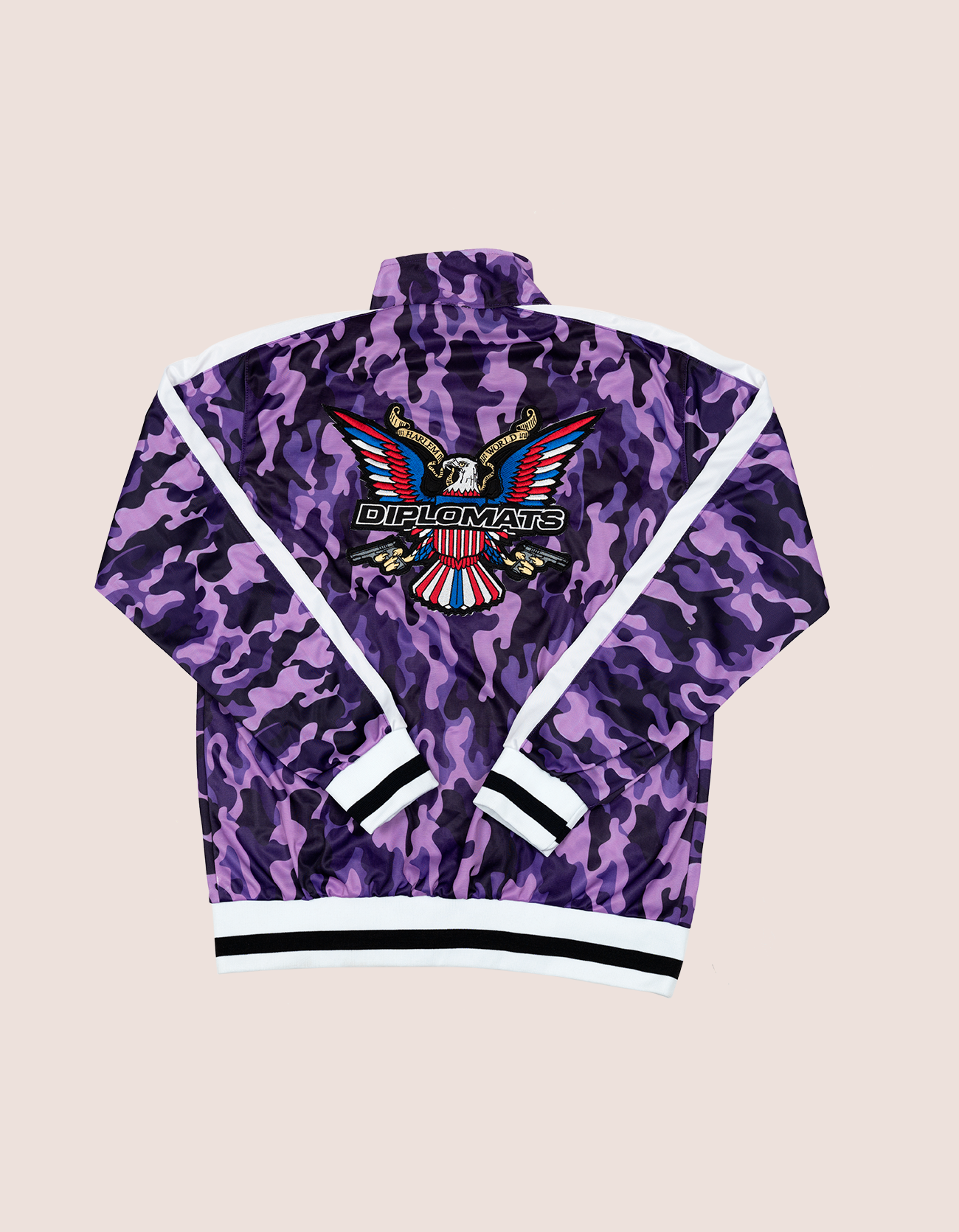 Women's PURPLE CAMO TRACK JACKET