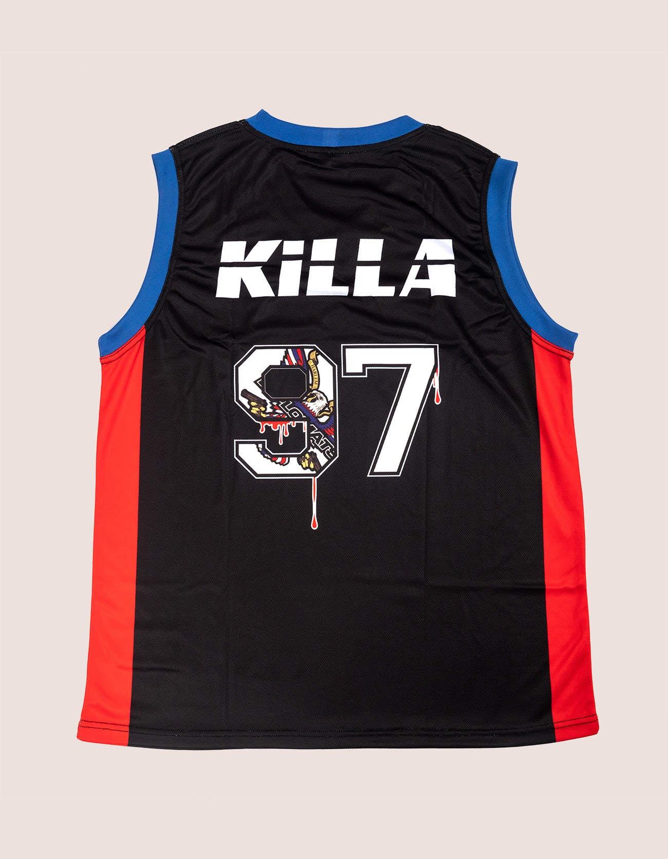 Killa 97 Blk/Red basket Ball Jersey