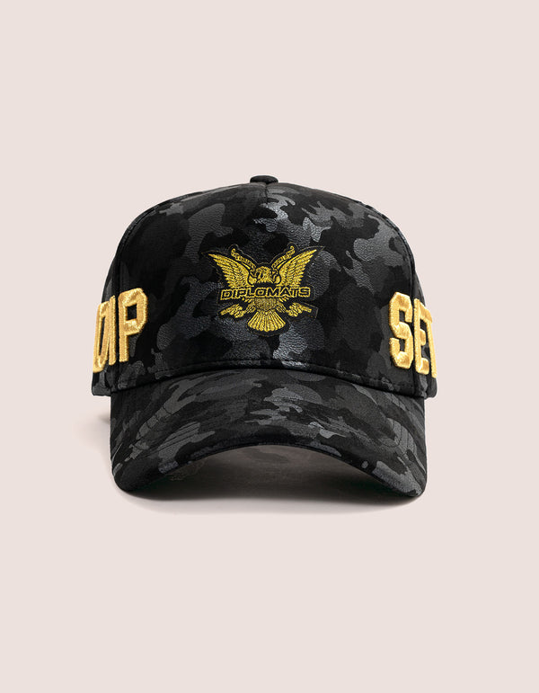 DIPSET COUTURE SUEDE ROCKSTAR HAT BLK CAMO - DIPSET COUTURE