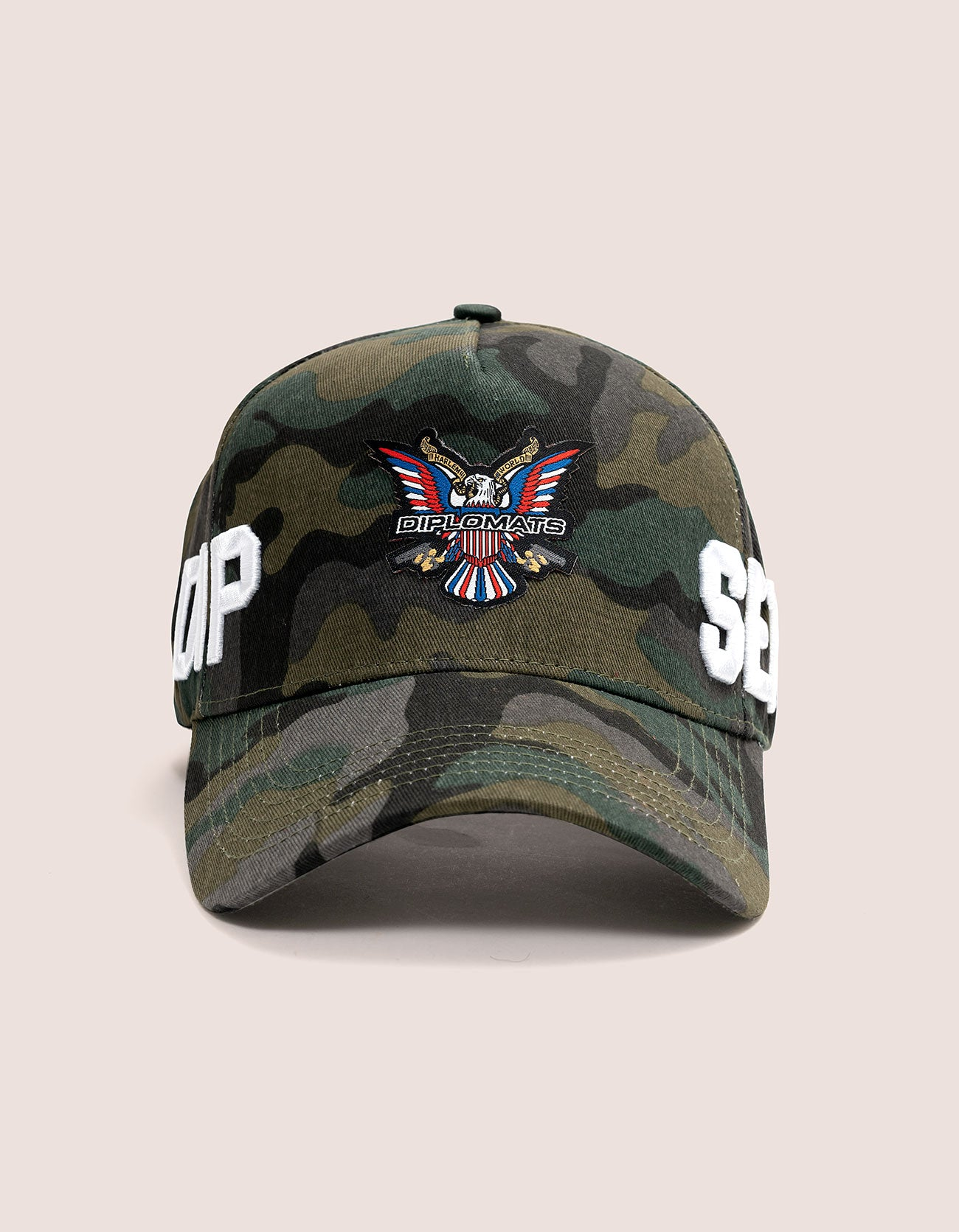 DIPSET COUTURE COTTON ROCKSTAR HAT CAMO GREEN