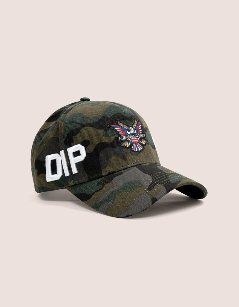 DIPSET COUTURE COTTON ROCKSTAR HAT CAMO GREEN - DIPSET COUTURE
