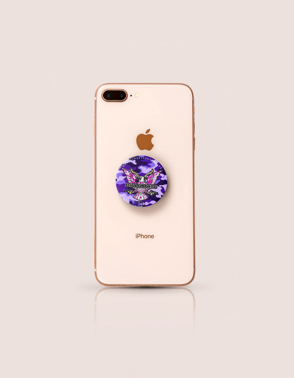 PURPLE CAMO POP SOCKET - DIPSET COUTURE