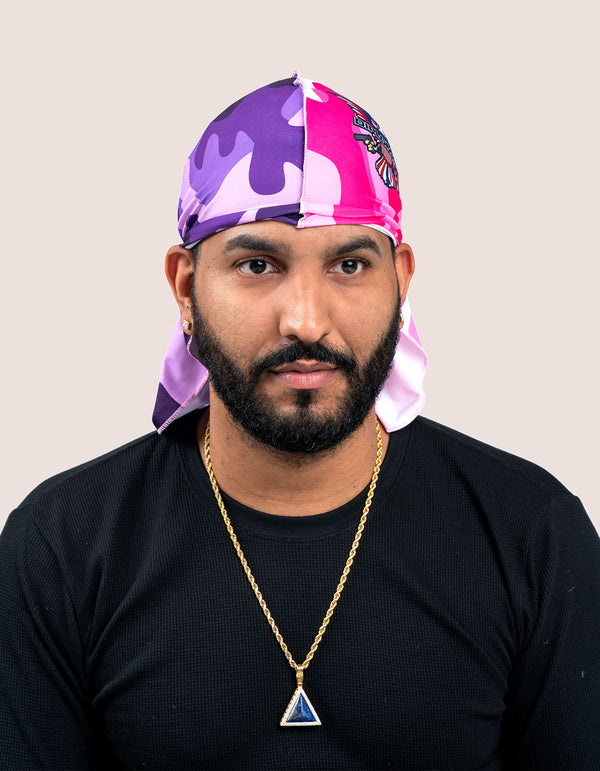 PINK/PURPLE CAMO Durag - DIPSET COUTURE