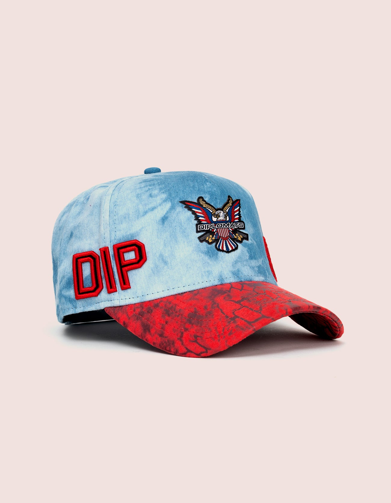 DIPSET COUTURE DENIM ROCKSTAR HAT RED