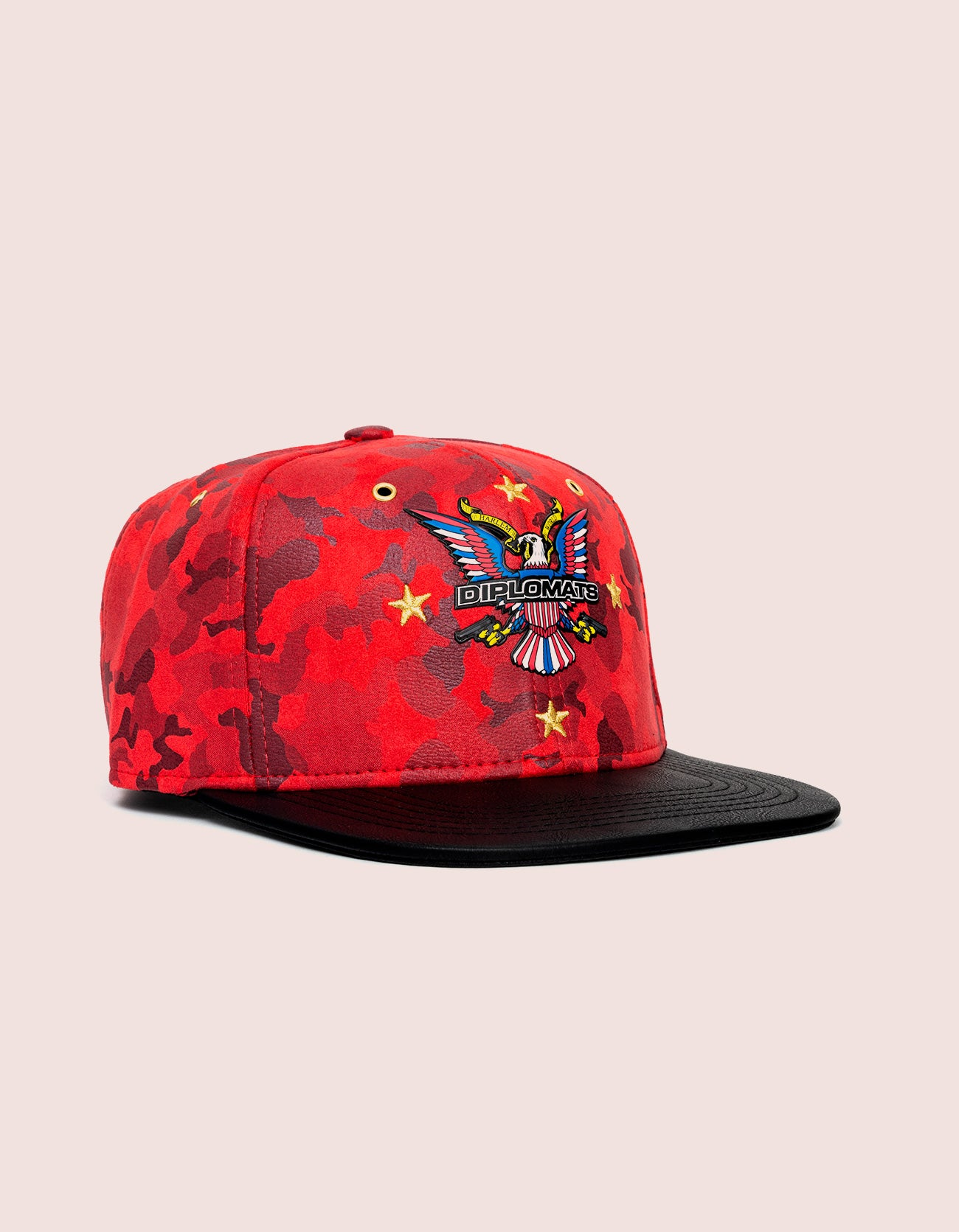 RED SUEDE CAMO STAR OG HAT