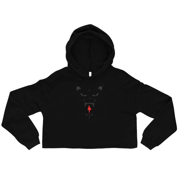 Wolf And Red Riding Hood Crop Hoodie - Ryze
