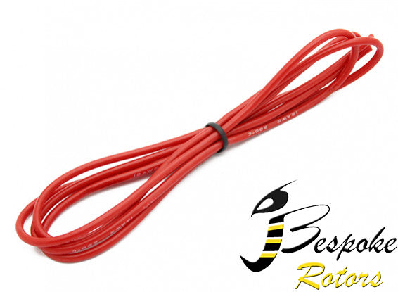 18AWG Silicone Wire  RED or BLACK