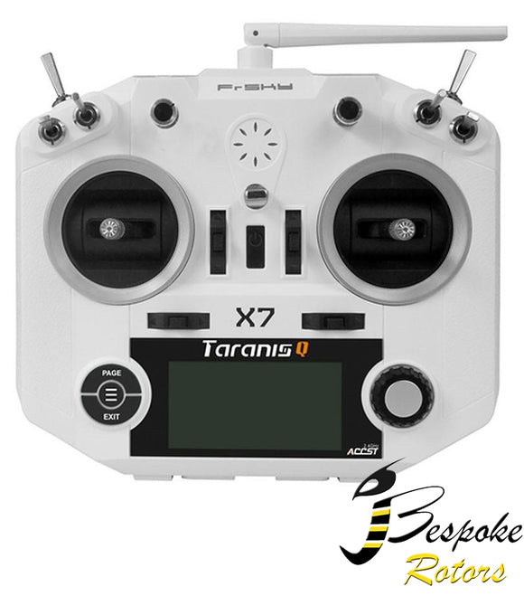Frsky Taranis Q X7 transmitter 2.4GHZ white / black (Mode 2)