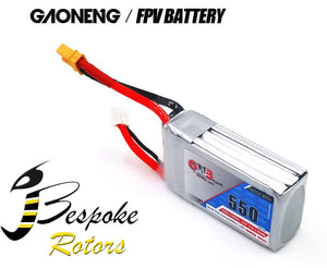 GNB 3S1P Rechargeable Battery 550mah 11.1V 80C to 160C