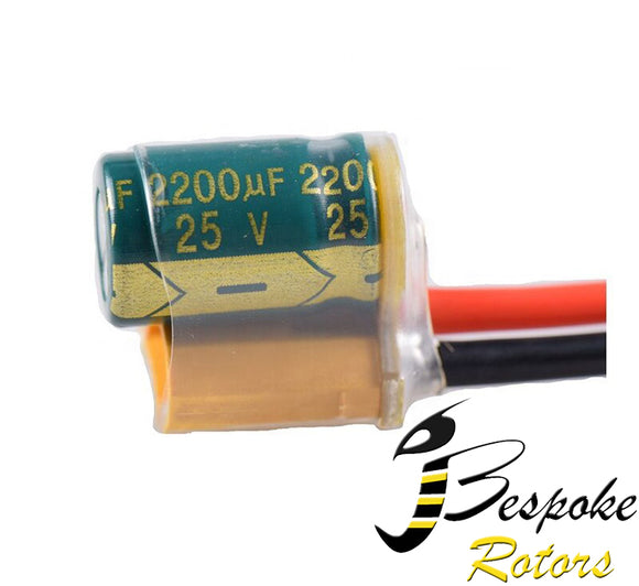 XT60 Power Filter Silicone Wire 2S-6S Lipo 2200UF 25V
