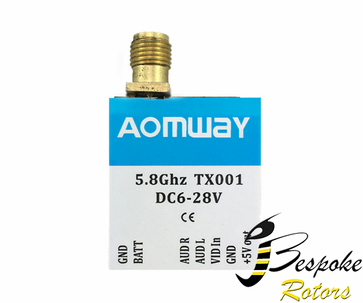 Aomway TX001 5.8G 40CH 0mw/25mw/200mw/600mw Power Switchable Transmitter