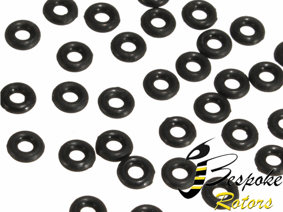 20 PCS Suleve™ Black Rubber O Rings M2