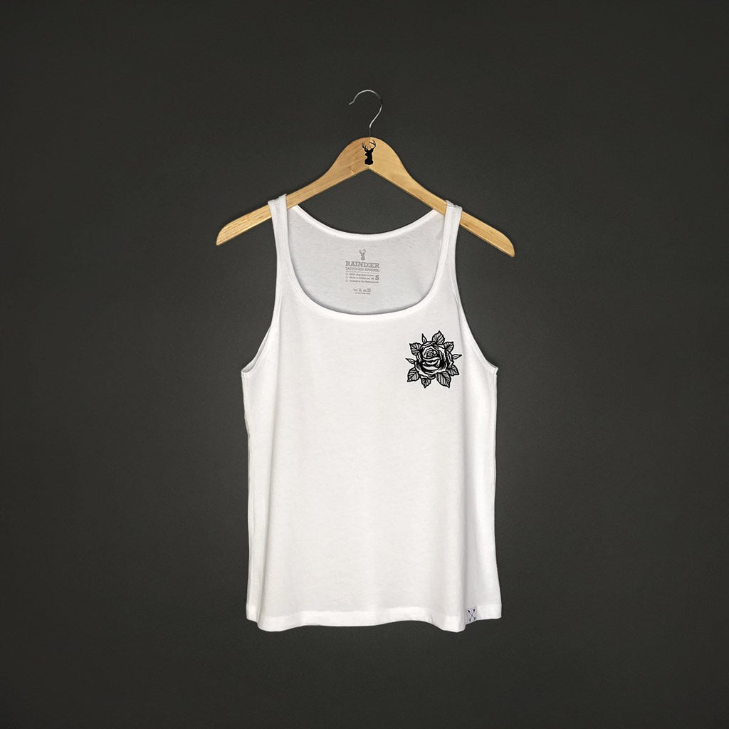 raindeer rosey rose tattoo clothing tank top